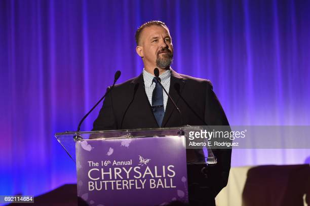 Honoree Raymond Davis accepts the John Dillon Award onstage at the 16th Annual Chrysalis Butterfly Ball on June 3 2017 in Los Angeles California