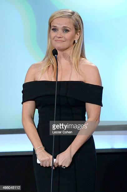 Honoree Reese Witherspoon accepts the American Cinematheque Award onstage during the 29th American Cinematheque Award honoring Reese Witherspoon at...
