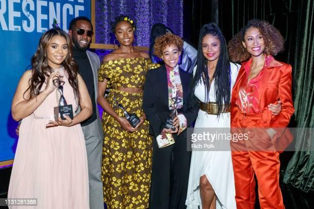 Honoree Regina Hall Sean 'Diddy' Combs honoree KiKi Layne honoree Amandla Stenberg Sanaa Lathan and Elaine Welteroth attend the 2019 Essence Black...