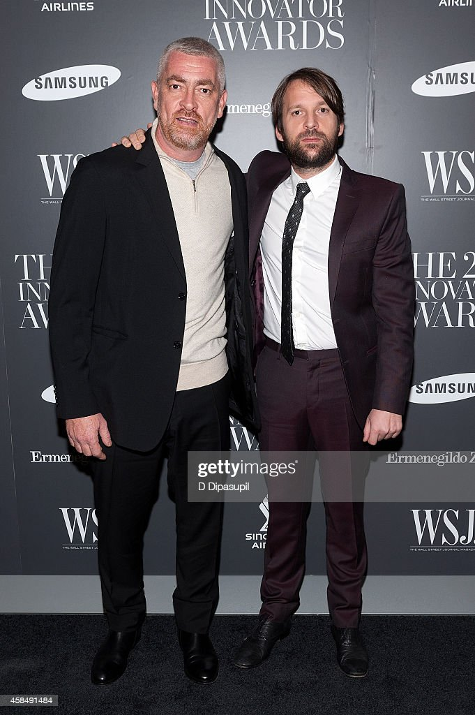 Honoree Rene Redzepi (R) and Alex Atala attend WSJ. Magazine's 'Innovator Of The Year' Awards at the Museum of Modern Art on November 5, 2014 in New York City.