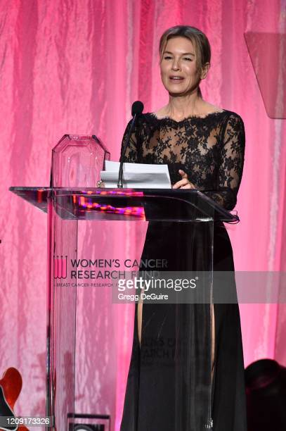 Honoree Renée Zellweger accepts the Courage Award onstage during WCRF's An Unforgettable Evening at Beverly Wilshire A Four Seasons Hotel on February...