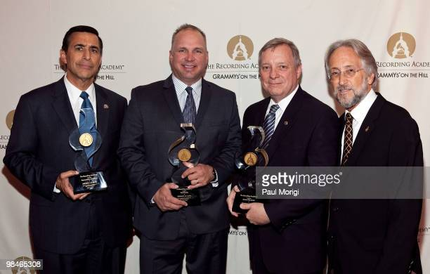 Honoree Rep Darryl Issa honoree Garth Brooks honoree Sen Dick Durbin and Neil Portnow Recording Academy Preseident and CEO at the GRAMMYs on the Hill...