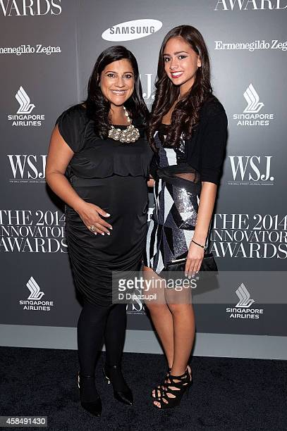 Honoree Reshma Saujani and Natasha Driver attend WSJ Magazine's 'Innovator Of The Year' Awards at the Museum of Modern Art on November 5 2014 in New...