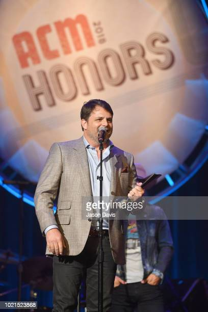 Honoree Rhett Akins speaks onstage during the 12th Annual ACM Honors at Ryman Auditorium on August 22 2018 in Nashville Tennessee