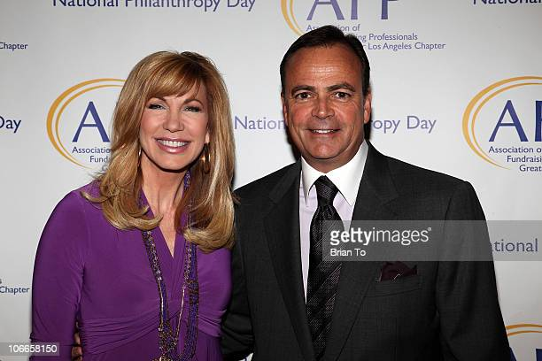 Honoree Rick J Caruso and Leeza Gibbons attend National Philanthropy Day Luncheon at The Beverly Hilton hotel on November 9 2010 in Beverly Hills...