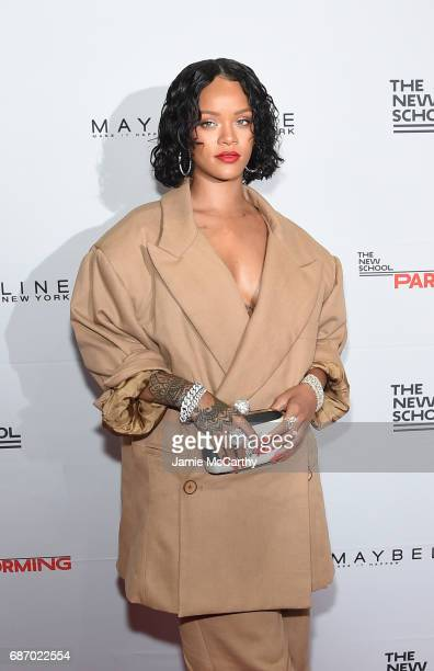 Honoree Rihanna attends the 69th Annual Parsons Benefit at Pier 60 on May 22 2017 in New York City