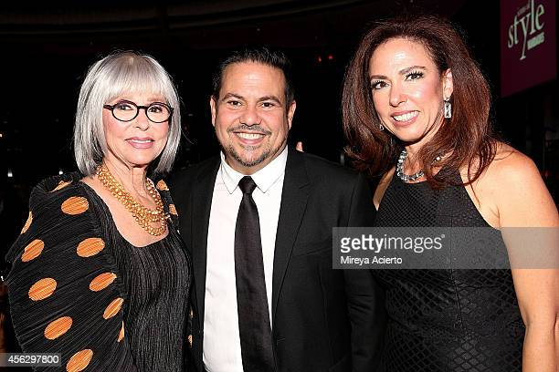 Honoree Rita Moreno designer Narciso Rodriguez and Fernanda Fisher attend 2014 Icons Of Style Gala Hosted By Vanidades at Mandarin Oriental Hotel on...