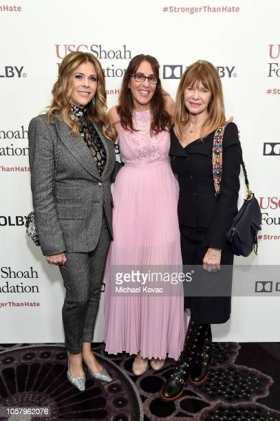 Honoree Rita Wilson, Ivy Schamis, and Kate Capshaw attend the Ambassadors For Humanity Gala Benefiting USC Shoah Foundation Honoring Rita Wilson And...