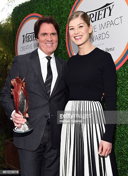 Honoree Rob Marshall and actress Rosamund Pike attend Variety's Creative Impact Awards and 10 Directors To Watch brunch presented by Mercedes Benz at...