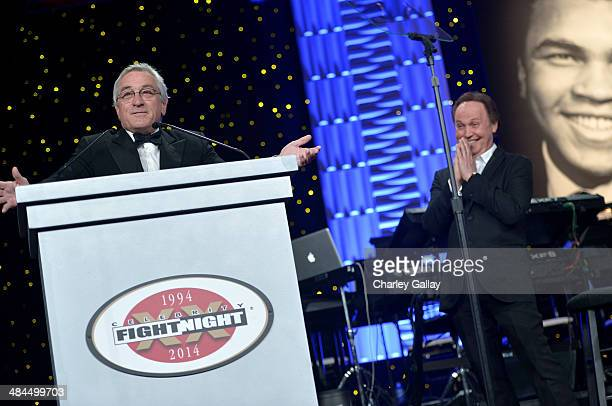 Honoree Robert De Niro accepts an award onstage during Muhammad Ali's Celebrity Fight Night XX held at the JW Marriott Desert Ridge Resort & Spa on...