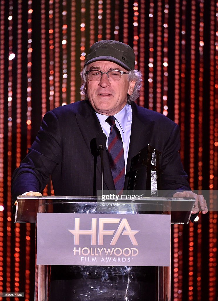 Honoree Robert De Niro accepts the Hollywood Career Achievement Award onstage during the 19th Annual Hollywood Film Awards at The Beverly Hilton Hotel on November 1, 2015 in Beverly Hills, California.