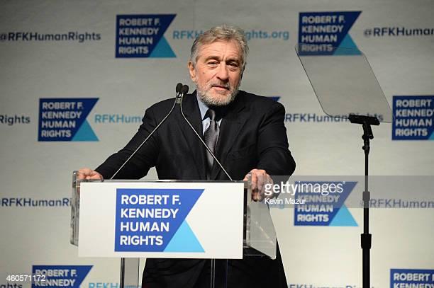 Honoree Robert De Niro speaks onstage at the RFK Ripple Of Hope Gala at Hilton Hotel Midtown on December 16 2014 in New York City