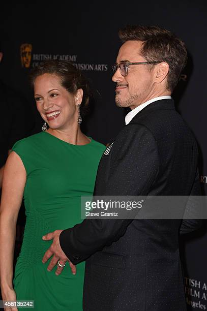 Honoree Robert Downey Jr. And producer Susan Downey attend the 2014 BAFTA Los Angeles Jaguar Britannia Awards Presented By BBC America And United...