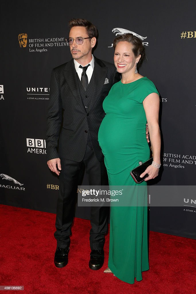 Honoree Robert Downey Jr. and producer Susan Downey attend the BAFTA Los Angeles Jaguar Britannia Awards presented by BBC America and United Airlines at The Beverly Hilton Hotel on October 30, 2014 in Beverly Hills, California.