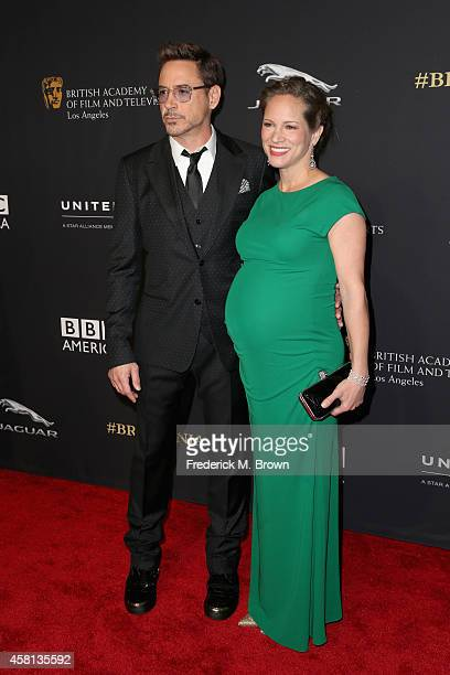 Honoree Robert Downey Jr. And producer Susan Downey attend the BAFTA Los Angeles Jaguar Britannia Awards presented by BBC America and United Airlines...