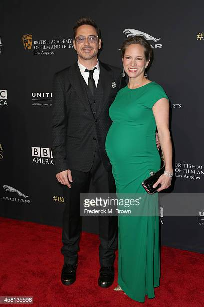Honoree Robert Downey Jr and producer Susan Downey attend the BAFTA Los Angeles Jaguar Britannia Awards presented by BBC America and United Airlines...