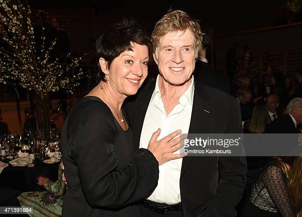 Honoree Robert Redford and wife Sibylle Szaggars attend the 42nd Chaplin Award Gala at Jazz at Lincoln Center on April 27 2015 in New York City