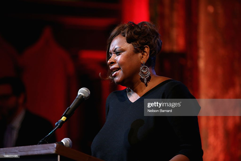 Honoree Robin Quivers speaks onstage at T.J. Martell Foundation's Annual World Tour of Wine Dinner at The Angel Orensanz Foundation on November 14, 2013 in New York City.