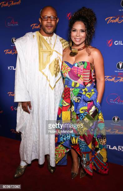 Honoree Rockmond Dunbar and wife Maya Gilbert attend the 4th Annual Truth Awards at Taglyan Cultural Complex on February 24 2018 in Hollywood...
