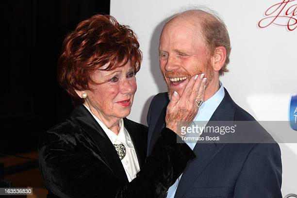 Honoree Ron Howard and actress Marion Ross attend the Television Academy's 22nd Annual Hall Of Fame Induction Gala held at The Beverly Hilton Hotel...