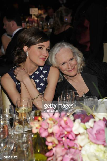 Honoree Rose Byrne and presenter Glenn Close attend the 2013 G'Day USA Los Angeles Black Tie Gala at JW Marriott Los Angeles at L.A. LIVE on January...