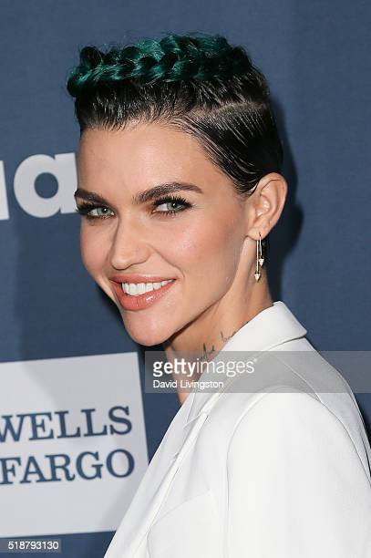 Honoree Ruby Rose arrives at the 27th Annual GLAAD Media Awards at The Beverly Hilton Hotel on April 2 2016 in Beverly Hills California