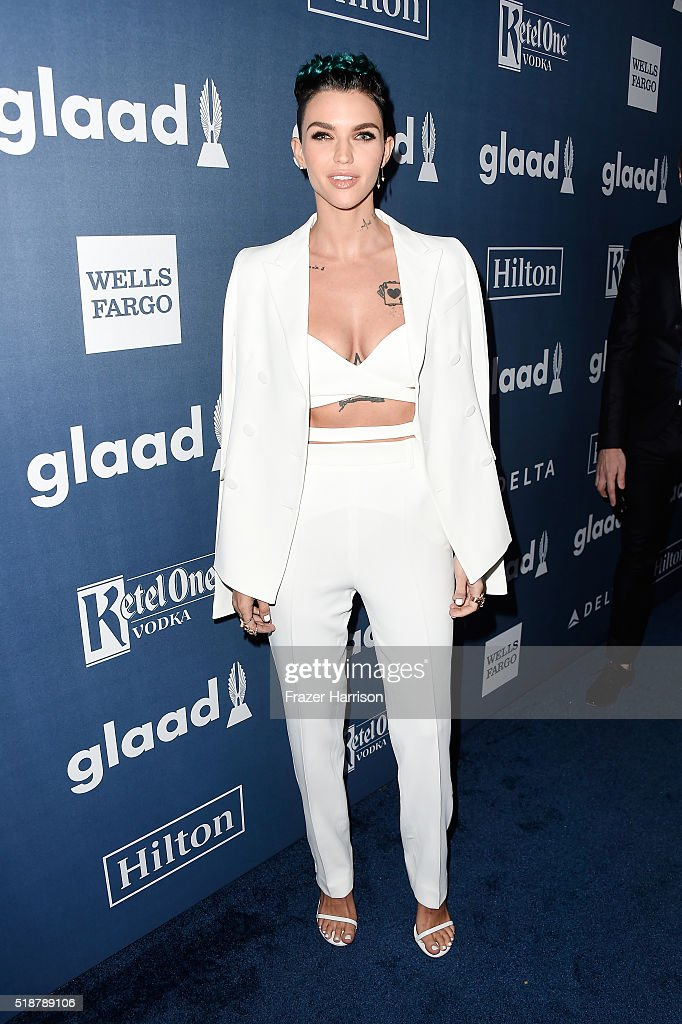 Honoree Ruby Rose attends the 27th Annual GLAAD Media Awards at the Beverly Hilton Hotel on April 2, 2016 in Beverly Hills, California.