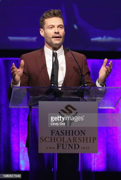 Honoree Ryan Seacrest accepts award onstage during the 2019 Fashion Scholarship Fund Awards Gala on January 10 2019 in New York City