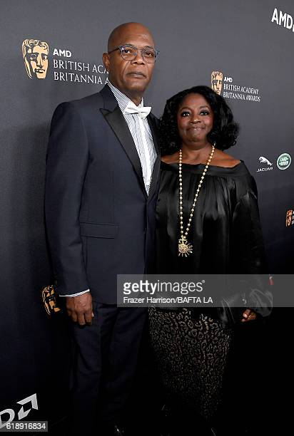 Honoree Samuel L Jackson and LaTanya Richardson attend the 2016 AMD British Academy Britannia Awards presented by Jaguar Land Rover and American...
