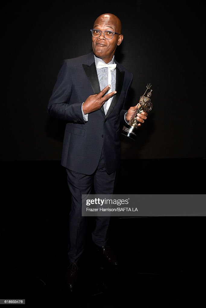 Honoree Samuel L. Jackson attends the 2016 AMD British Academy Britannia Awards presented by Jaguar Land Rover and American Airlines at The Beverly Hilton Hotel on October 28, 2016 in Beverly Hills, California.
