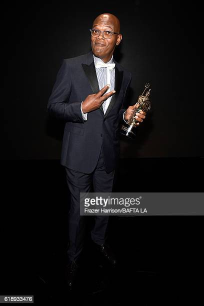 Honoree Samuel L Jackson attends the 2016 AMD British Academy Britannia Awards presented by Jaguar Land Rover and American Airlines at The Beverly...