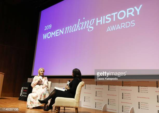 Honoree Sandra Lee and Kristen Welker speak onstage during the National Women's History Museum's Women Making History Awards at Carnegie Institution...