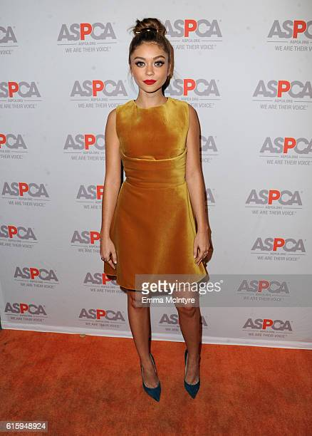 Honoree Sarah Hyland attends ASPCA's Los Angeles Benefit on October 20 2016 in Bel Air California
