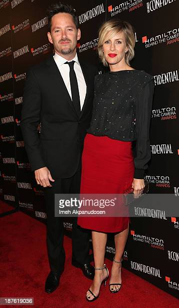 Honoree Scott Cooper and Jocelyne Cooper attend Hamilton and Los Angeles Confidential Magazine's announcement of the 7th Annual Hamilton Behind The...