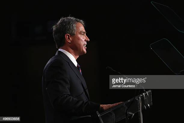 Honoree Scott Wine speaks on stage at the 9th Annual IAVA Heroes Gala at the Cipriani 42nd Street on November 12 2015 in New York City