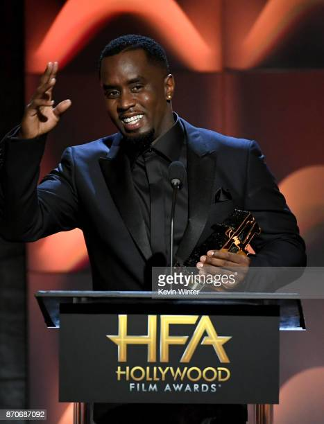 Honoree Sean Combs accepts the Hollywood Documentary Award for 'Can't Stop Won't Stop A Bad Boy Story' onstage during the 21st Annual Hollywood Film...