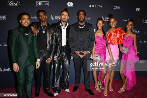 Honoree Sean Diddy Combs with Justin Dior Combs Christian Casey Combs Quincy Taylor Brown D'Lila Star Combs Jessie James Combs and Chance Combs...