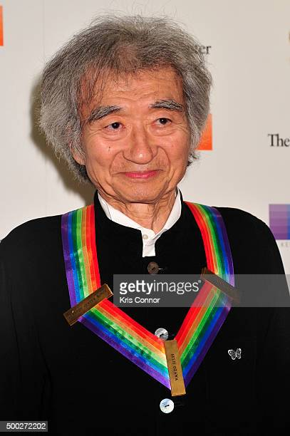 Honoree Seiji Ozawa arrives at the 38th Annual Kennedy Center Honors Gala at the Kennedy Center for the Performing Arts on December 6 2015 in...