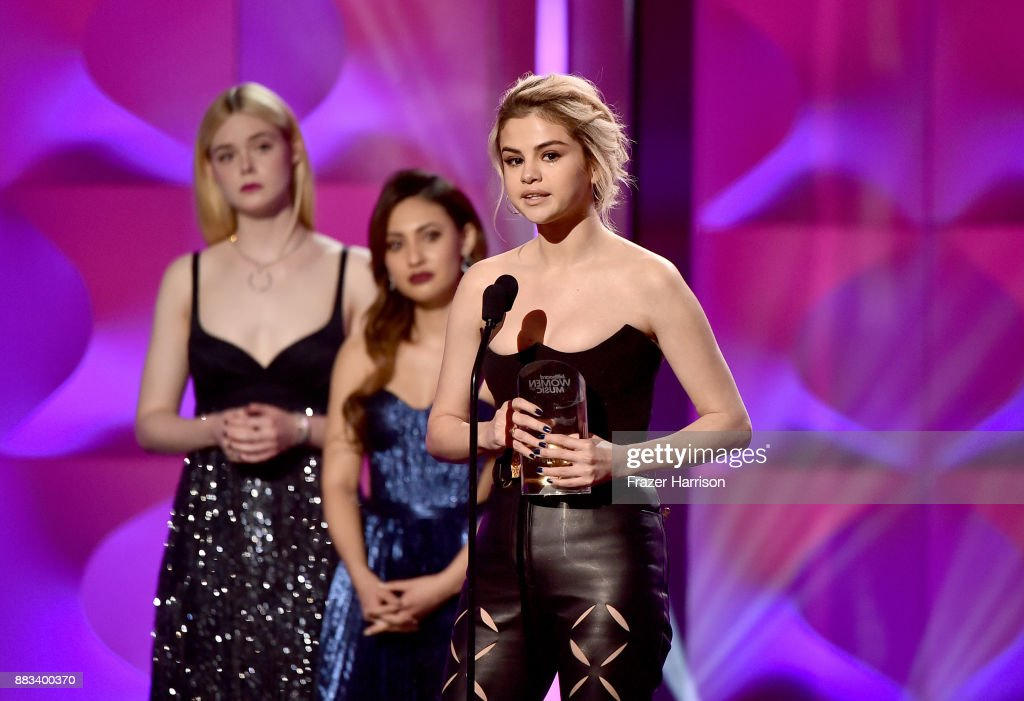 Honoree Selena Gomez Accepts the Woman of the Year Award onstage at Billboard Women In Music 2017 at The Ray Dolby Ballroom at Hollywood & Highland Center on November 30, 2017 in Hollywood, California.