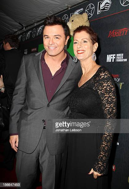 Honoree Seth MacFarlane and Noreen Fraser arrive at Variety's 3rd annual Power of Comedy event presented by Bing benefiting the Noreen Fraser...