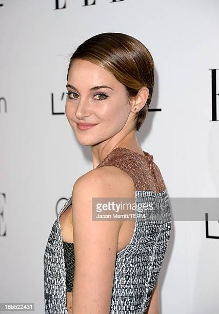 Honoree Shailene Woodley attends ELLE's 20th Annual Women In Hollywood Celebration at Four Seasons Hotel Los Angeles at Beverly Hills on October 21,...
