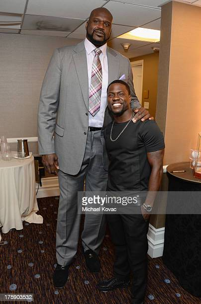 Honoree Shaquille O'Neal and comedian Kevin Hart attend the 13th Annual Harold And Carole Pump Foundation Gala Honoring Jamie Foxx Shaquille O'Neal...