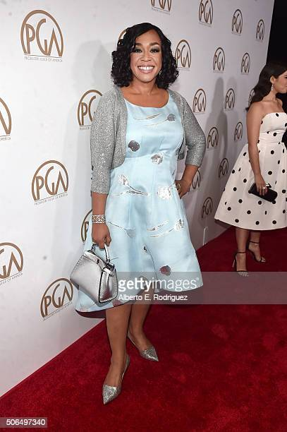Honoree Shonda Rhimes attends 27th Annual Producers Guild Of America Awards at the Hyatt Regency Century Plaza on January 23 2016 in Century City...