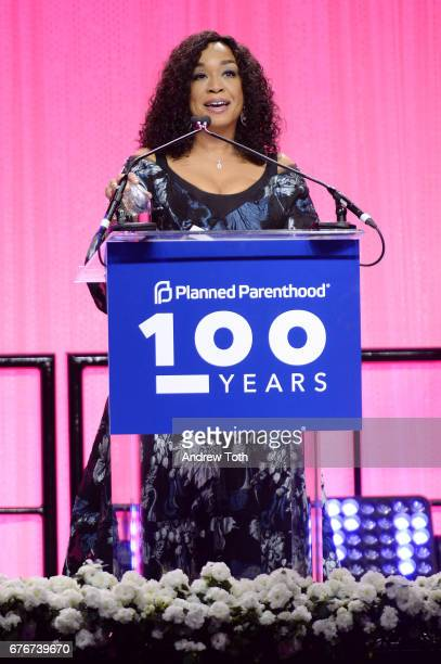 Honoree Shonda Rhimes speaks onstage at the Planned Parenthood 100th Anniversary Gala at Pier 36 on May 2 2017 in New York City