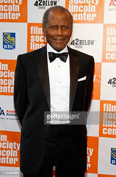 Honoree Sidney Poitier attends The Film Society of Lincoln Center's presentation of the 38th Annual Chaplin Award at Alice Tully Hall on May 2 2011...