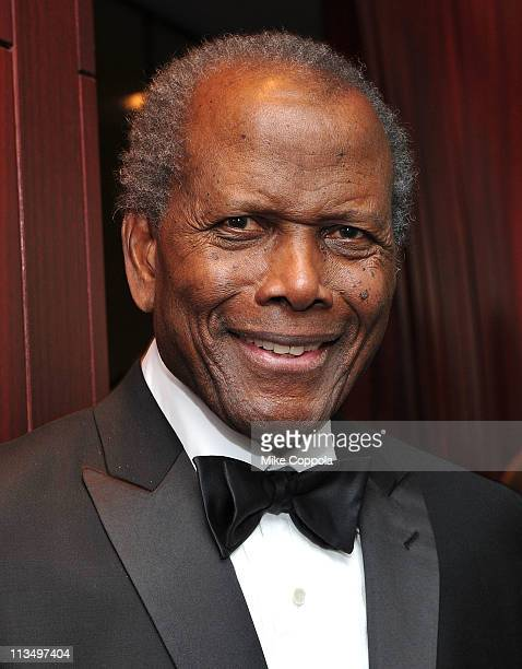 Honoree Sidney Poitier attends The Film Society of Lincoln Center's presentation of the 38th Annual Chaplin Award at Alice Tully Hall on May 2, 2011...