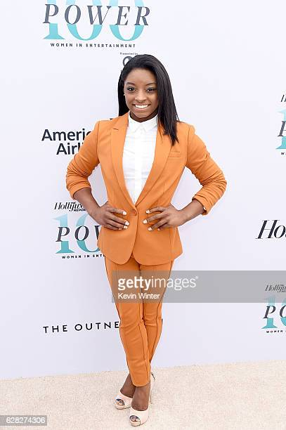 Honoree Simone Biles attends The Hollywood Reporter's Annual Women in Entertainment Breakfast in Los Angeles at Milk Studios on December 7 2016 in...