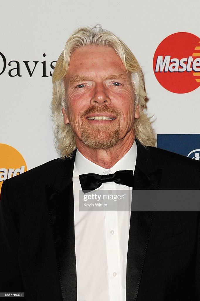 Honoree Sir Richard Branson arrives at Clive Davis and the Recording Academy's 2012 Pre-GRAMMY Gala and Salute to Industry Icons Honoring Richard Branson held at The Beverly Hilton Hotel on February 11, 2012 in Beverly Hills, California.