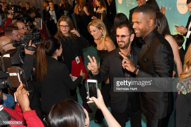 Honoree Sir Ringo Starr and AJ Calloway attend the 14th Annual UNICEF Snowflake Ball 2018 on November 27 2018 in New York City