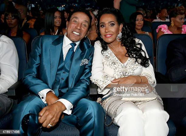 Honoree Smokey Robinson and Frances Robinson attend the 2015 BET Awards at the Microsoft Theater on June 28 2015 in Los Angeles California